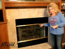 fireplace brass trim can be painted to get an instant living room makeover