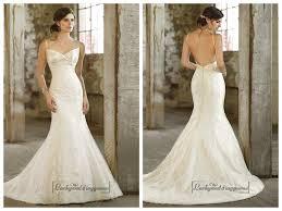spaghetti strpas ruched v neckline trumpet taffeta wedding dresses