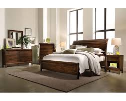 aspenhome bedroom set w sleigh bed walnut park asi05 400set 8