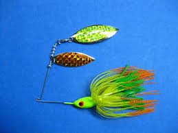 Details About 1 2 Oz Spinner Bait Chart Orange Lime Tips Fishing Lure Bass R