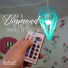 diamond himmeli pendant light
