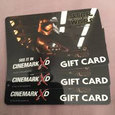 1x star wars the force awakens capn phasma storm trooper cinemark gift card ebay