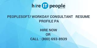 Peoplesoft Workday Consultant Resume Profile Pa Hire It People