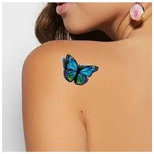 3d Butterfly Design Temporary Tattoo Stickers