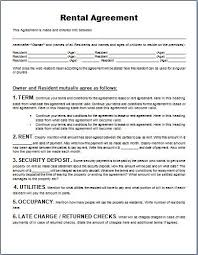 A separation agreement template should contain specific sections and information. Ms Word Generic Rental Agreement Form Template Rental Agreement Templates Word Template Contract Template