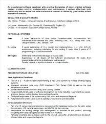 Java Developers Resume Kievlive Custom Experience Java Resume