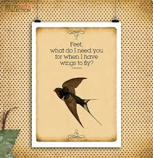 Flying Quotes Mesmerizing Fly Quotes Birds Flying Frida Kahlo Quote By RetroBoxCollection
