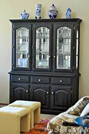 black china cabinet from fry sauce and grits