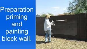 examples of block wall spray painting