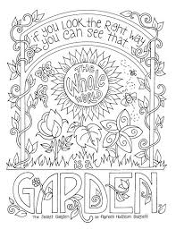 Secret Garden Coloring Page Frances Hodgson Burnett Quotes