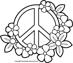 Small Picture Peace Sign Coloring Pictures Techfixusacom
