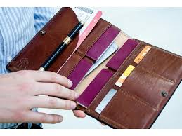 handcrafted italian leather family passport holder handmade in italy