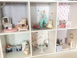 darling diy calico critters house from the reinvented housewife sylvanian families 112 scale dollhouse miniatures furniture homemade dolls house i81 house