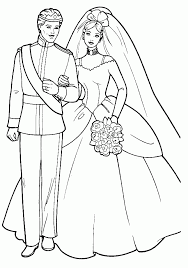 Try to color beautiful dress to unexpected colors! Disney Wedding Coloring Pages Coloring Home