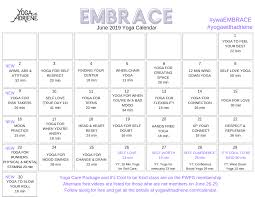 June 2019 Yoga Calendar Embrace Yoga With Adriene