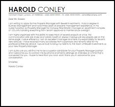 Sample Cover Letter For Property Manager Property Management Cover