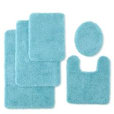 jcpenney bathroom rugs home collection enney home ultra soft quick bath rug collection blue in jcpenney bathroom rugs