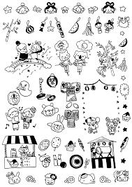 無料7月のおたよりイラスト挿絵素材配布七夕夏祭りプールびらき