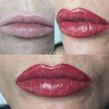 перманентный макияж губ фото сразу после процедуры после заживления