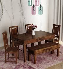 Solid wood dinning set Room Furniture Buy Woodway Solid Wood Six Seater Dining Set In Provincial Teak Finish By Woodsworth Online Six Seater Dining Sets Dining Furniture Pepperfry Pepperfry Buy Woodway Solid Wood Six Seater Dining Set In Provincial Teak
