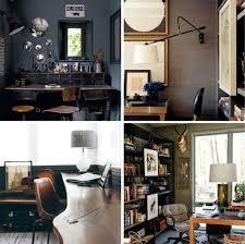 Moody Mid Century Home Office - Emily Henderson