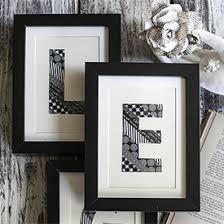 on framed monogram letter wall art with diy washi tape monogram art