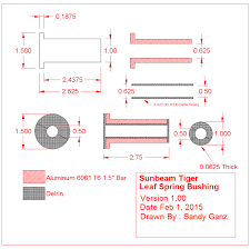 sunbeam tiger leaf spring bushings gtsparkplugs sunbeam tiger racing leaf spring bushings