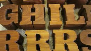2 inch thick cedar letters western