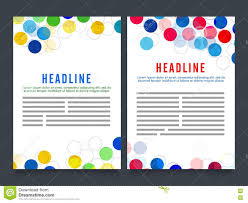 Two Page Brochure Template Two Page Brochure Template Or Flyer Design Stock Illustration