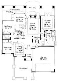 print this floor plan modified galley kitchen hwbdo10516 spanish house plan from