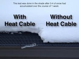 roof wires melt ice heat cables raindrop gutter guard systems