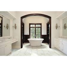Bathroom And Tile Ms International Carrara 12 In X 24 In Glazed Porcelain Floor