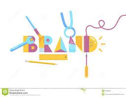 brand image brand construction concept