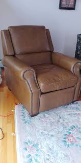 2 high end leather recliners like brand new