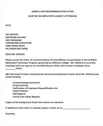Recommendation Letter For Technician Sample Employer Recommendation