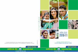 coverpage design for corp bank s delux annual report balcony ticket