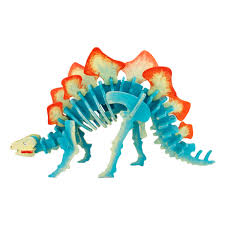 Деревянный 3D <b>конструктор</b> с красками Robotime <b>Стегозавр</b> ...
