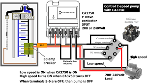 how to wire intermatic ca3750 pump completely off remotely see diagram