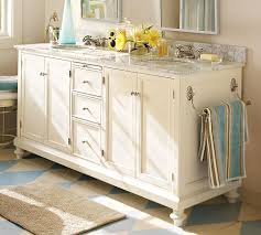 pottery barn bathrooms ideas. Bathroom:Rustic Style Pottery Barn Bathroom Vanity With Glossy White Top Decorated Painting On Bathrooms Ideas