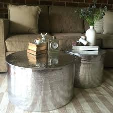 silver drum coffee table coffee table metal drum coffee table round metal drum coffee table brushed