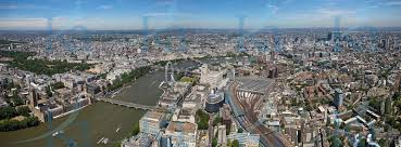 Aerial Photography views of London.