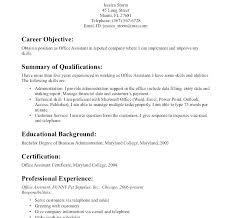 Executive Assistant Career Objective Sample Resume Admin Assistant Resume Objective For Office Assistant