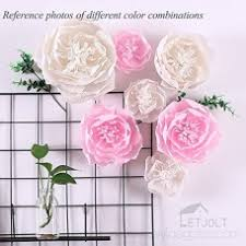 Paper Flower Archway Large Paper Flower Decorations 8 Of White Crepe Paper