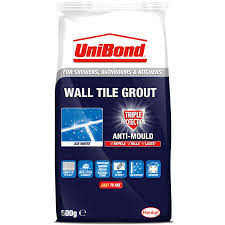 Grouting wall tile Grout Shower 308938unibondwalltilegroutgrouttripleprotectantimould500gbagwhite1 Bm Unibond Wall Tile Grout Triple Protect Anti Mould Bag 500g