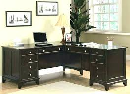 small black computer desk extraordinary white office drawers table for with wood corner drawer com