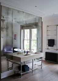antique mirror tiles in bathroom by rupert bevan antique mirrored wallpaper mad about the