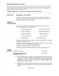 cover letter military resume examples for civilian surprising military resume example
