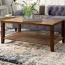 nea solid wooden coffee table light