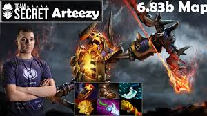 arteezy secret clinkz pro gameplay mmr dota 2 pro youtube