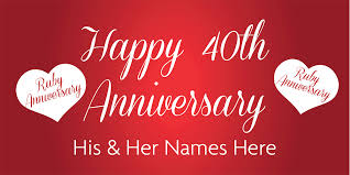 happy anniversary banners anniversary banner ruby 40th